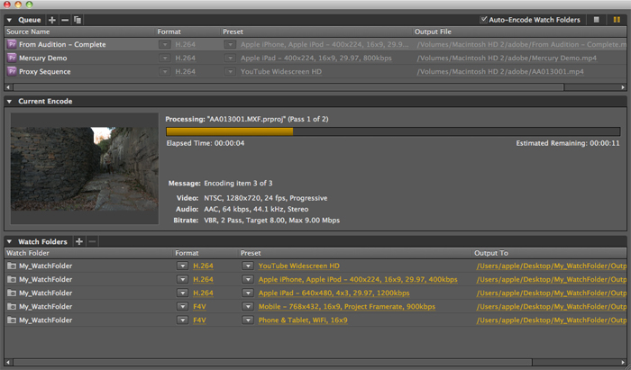 Adobe Media Encoder 5.5