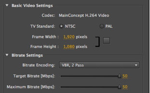 Creating a mezzanine file in Adobe Media Encoder