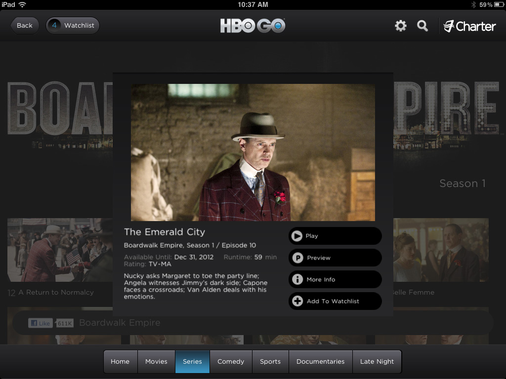 HBO Go Episode Info