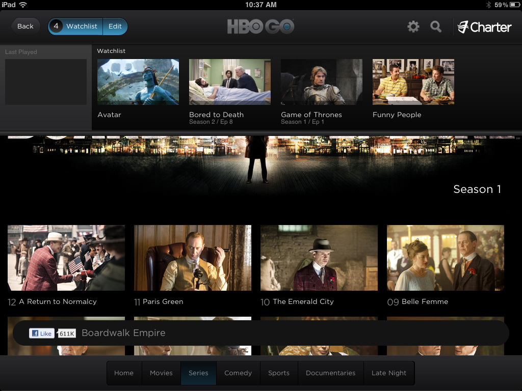 HBO Go Watchlist