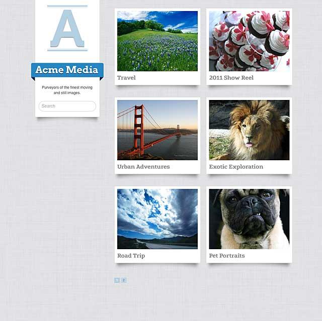 Vimeo Pro portfolio page