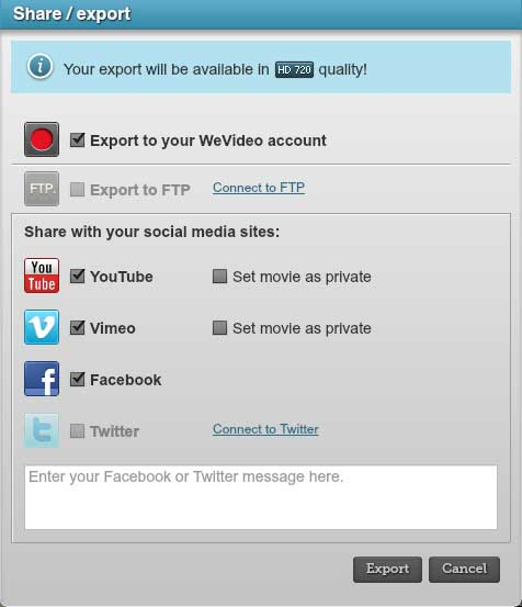 WeVideo Export