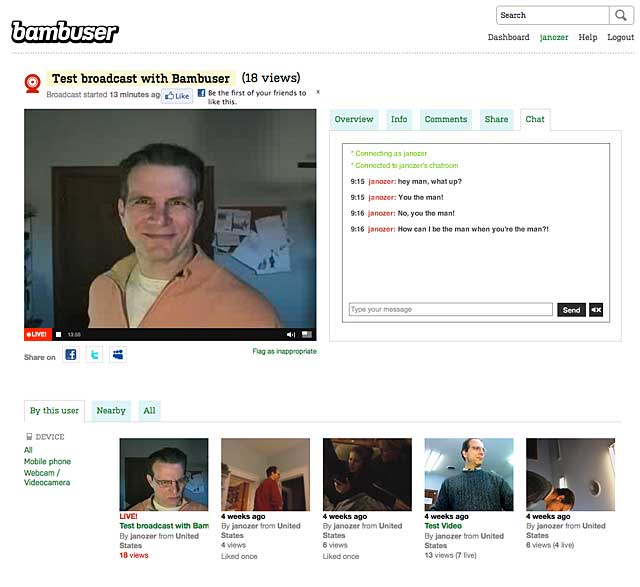 Bambuser Review: A Simple Live Streaming Interface, but No Frills