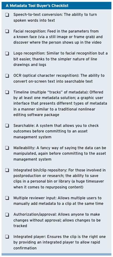 Metadata Checklist
