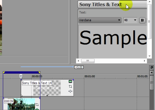 Sony Titles & Text