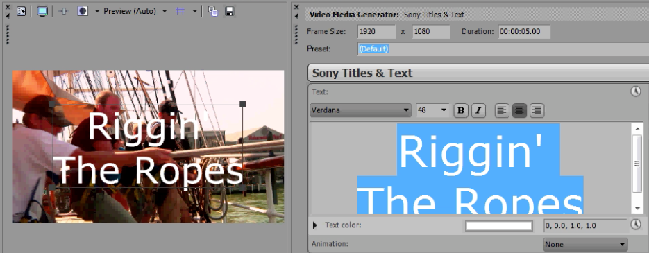 Centerting text in Sony Titles & Text