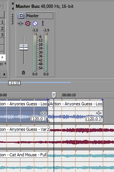 how to delete audio sony vegas