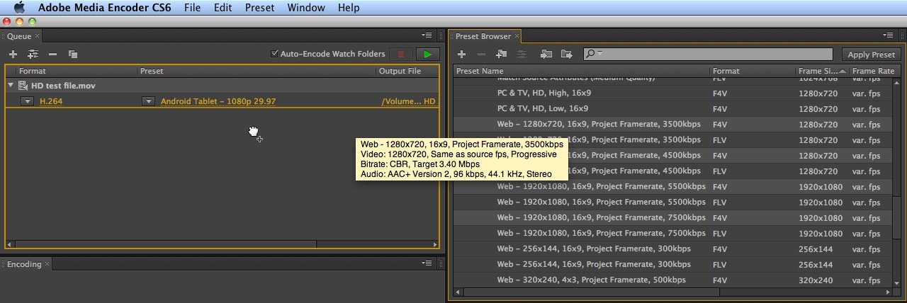 Adobe Media Encoder CS6