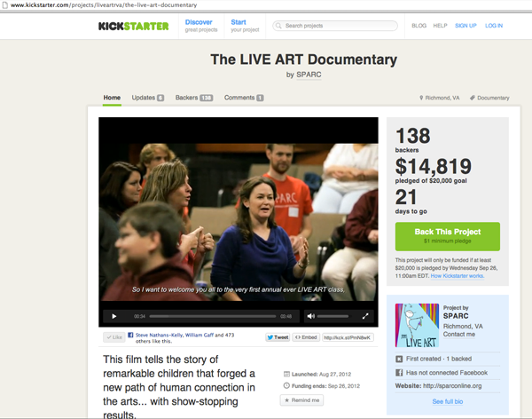 LIVE ART: Two Filmmakers Capture Life-Changing Theater