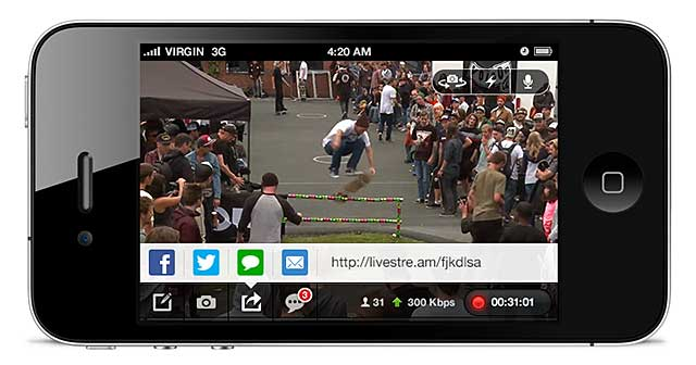 Livestream iPhone