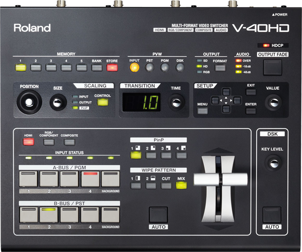 Roland V-40HD Multiformat Video Switcher