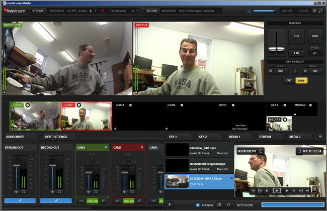 Ozer NewTek vs. Livestream Fig 1