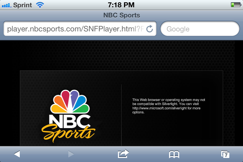 NBC Super Bowl Streaming Error