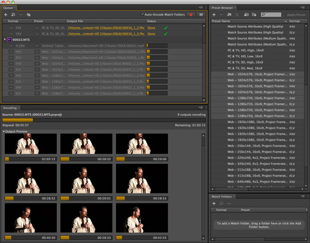 Parallel encodes in Adobe Media Encoder CS6